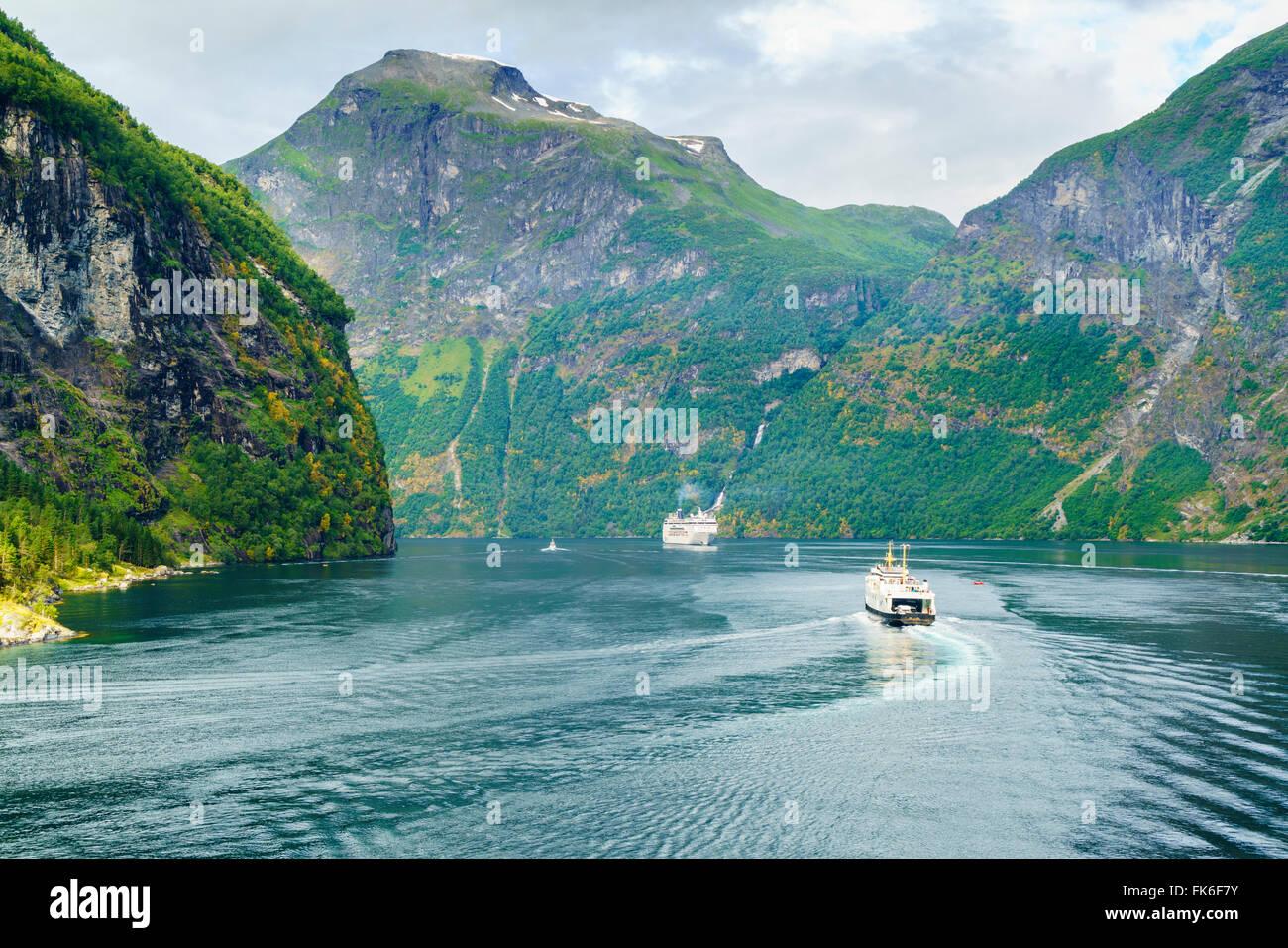 Gerainger Fjord, UNESCO World Heritage Site, Norway, Scandinavia, Europe Stock Photo