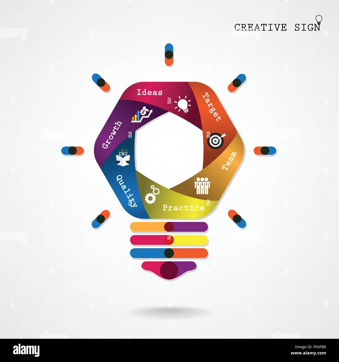 Creative light bulb Idea concept background ,design for poster flyer ...