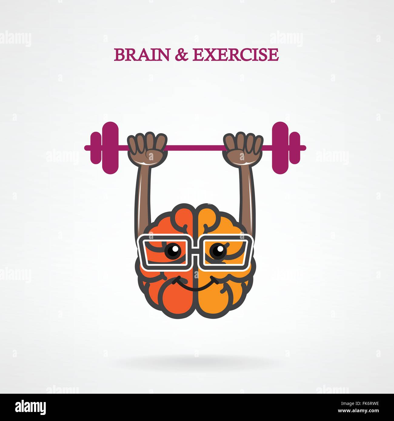 Creative Left And Right Brain Sign With The Barbell On Background Stock Vector Image Art Alamy