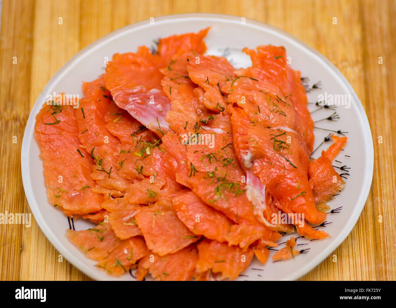 red fish sliced prepared fish food  sashimi - Stock Image
