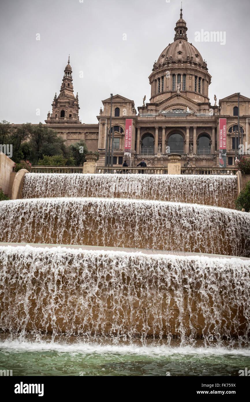 Palau Nacional, Museum MNAC, Parc de Montjuic, Barcelona. - Stock Image