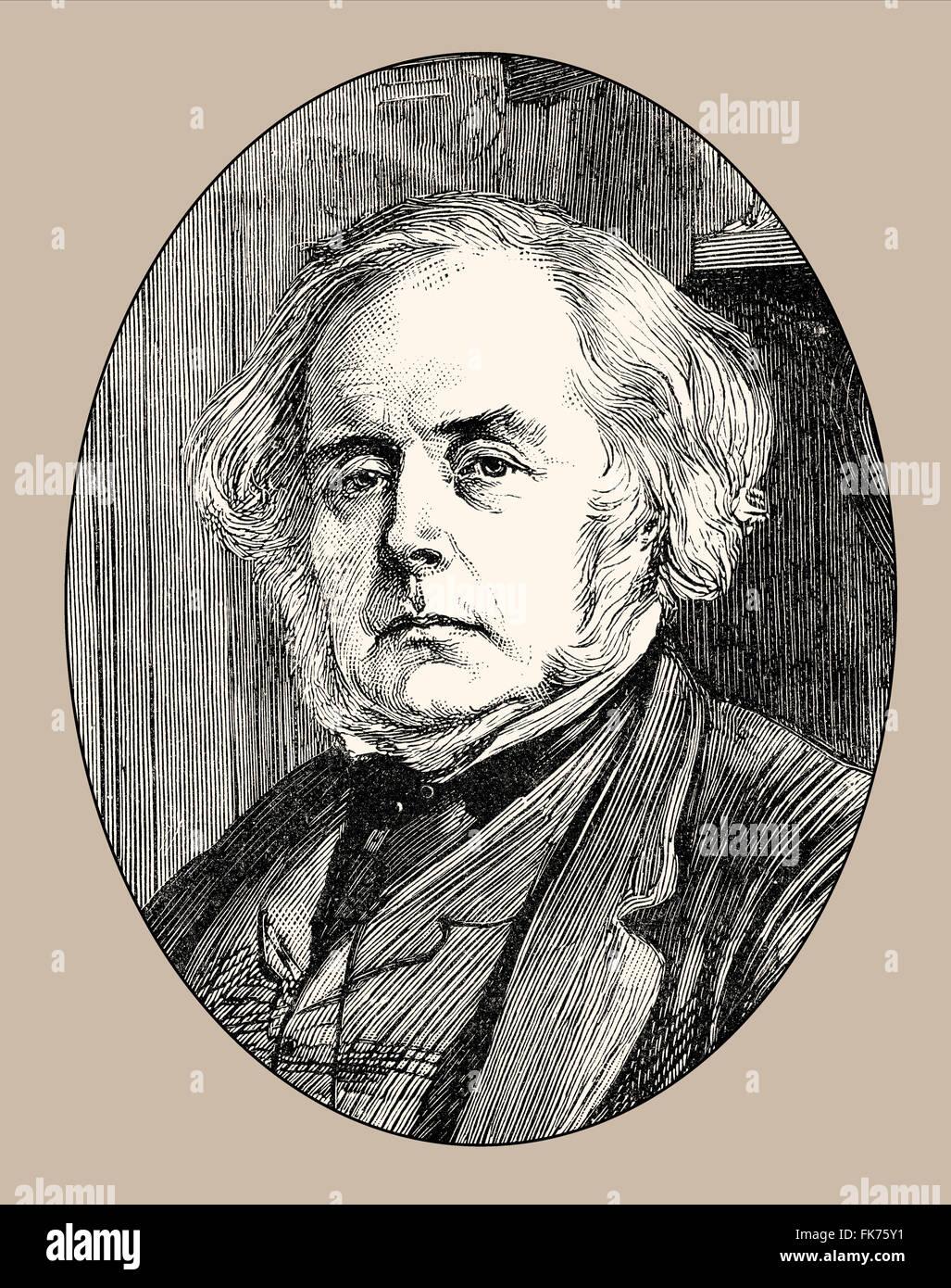 John Bright, 1811 - 1889, a British politician, Manchester Liberals, - Stock Image