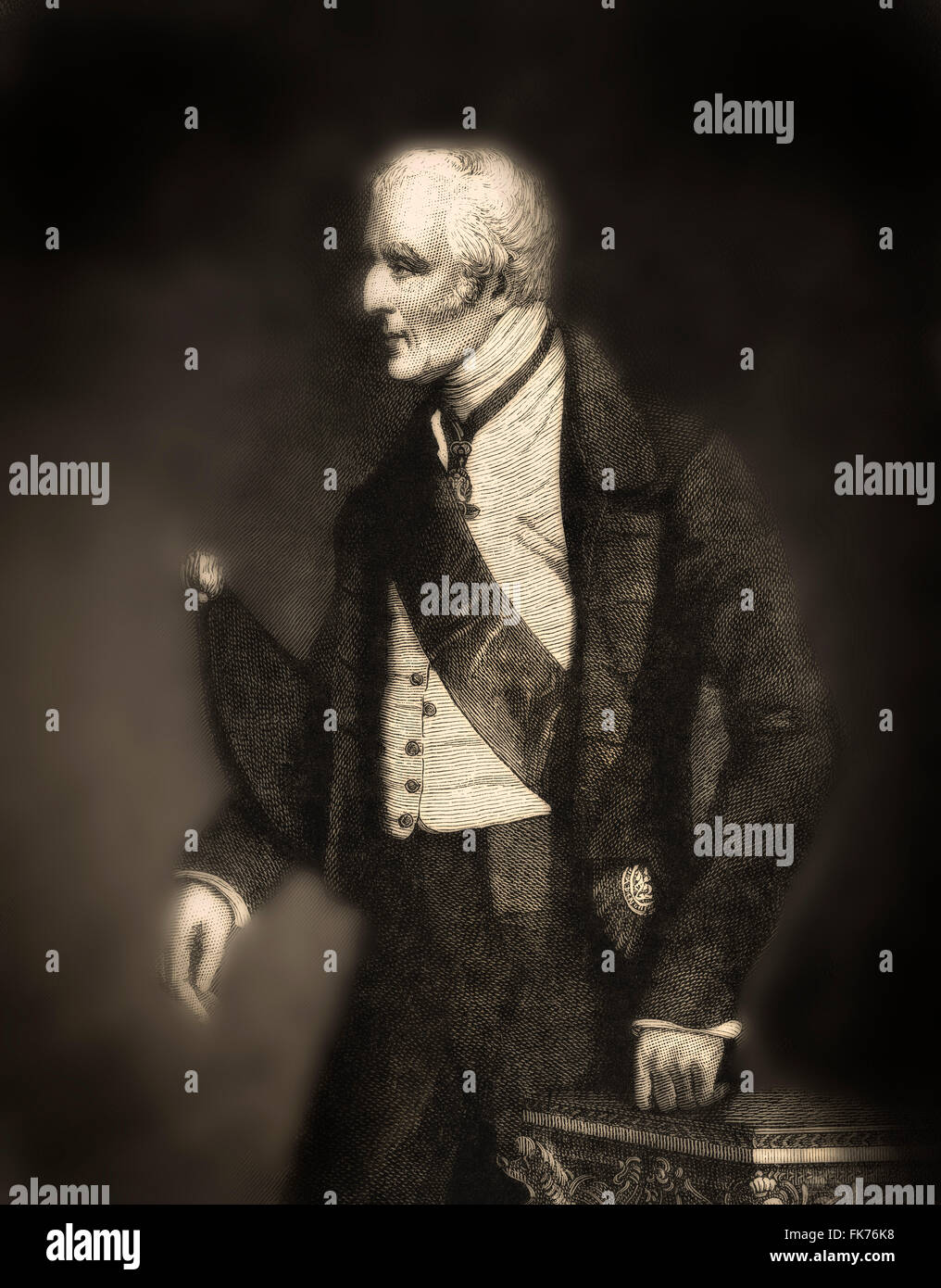 Arthur Wellesley, 1st Duke of Wellington, 1769-1852, field marshal and a British military leader, foreign minister - Stock Image