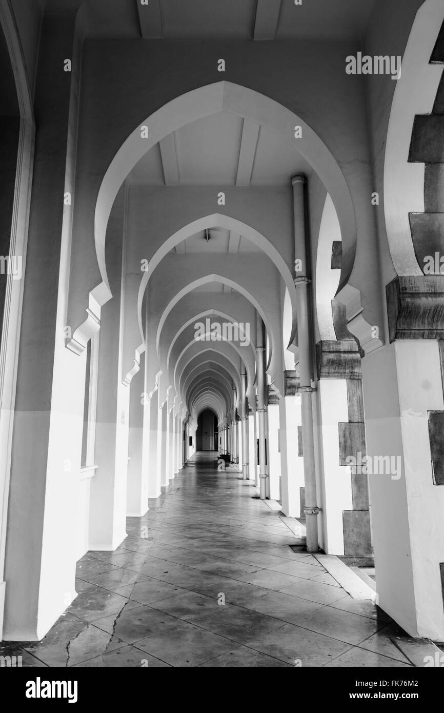 The arcade inside the KTM Headquarters Building - Stock Image