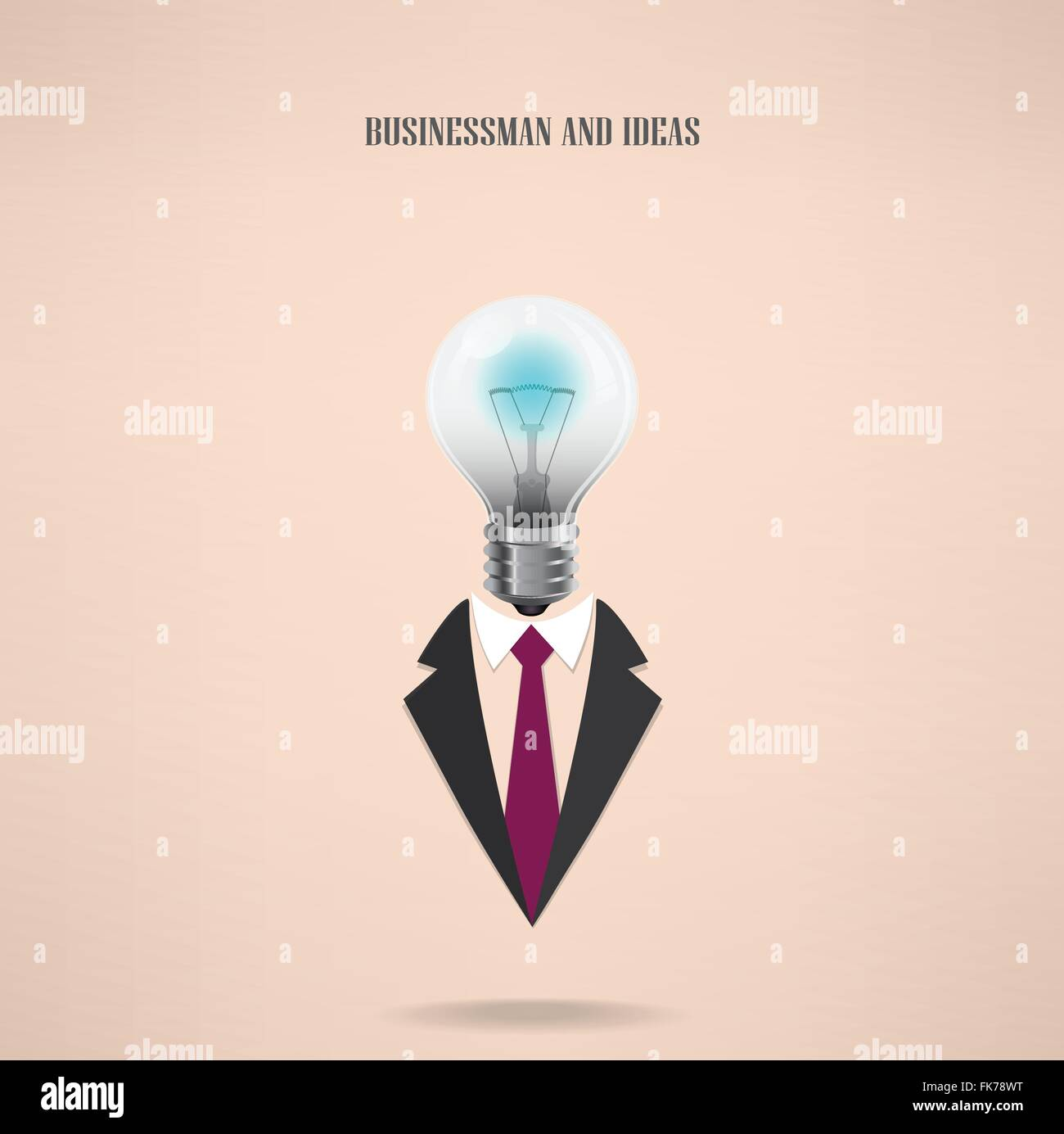 businessman symbol with creative light bulb sign ,design for poster ... for Education Creative Poster Designs  173lyp