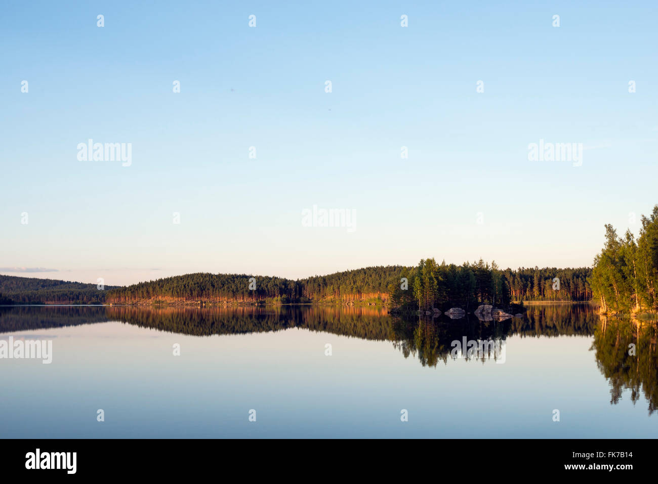 Clam lake, Sweden - Stock Image
