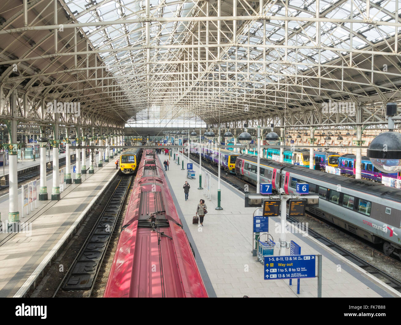 Manchester Piccadilly train station, Manchester, England. UK - Stock Image
