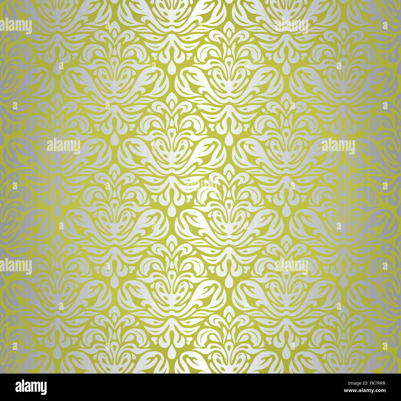 Green & silver shining pattern decorative holiday vintage wallpaper ...