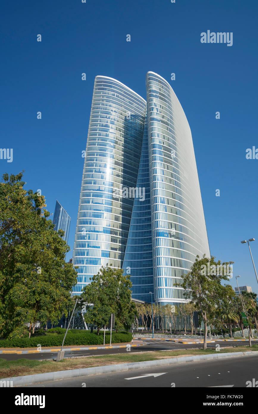 Abu Dhabi Investment Authority (ADIA) headquarters building in Abu Dhabi United Arab Emirates - Stock Image