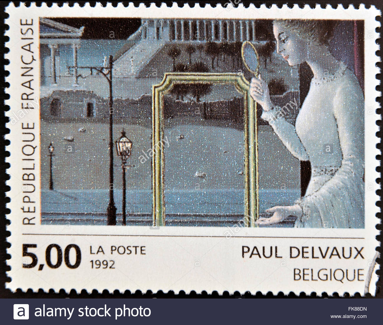 FRANCE - CIRCA 1992: A stamp printed in France shows T circa 1992 - Stock Image