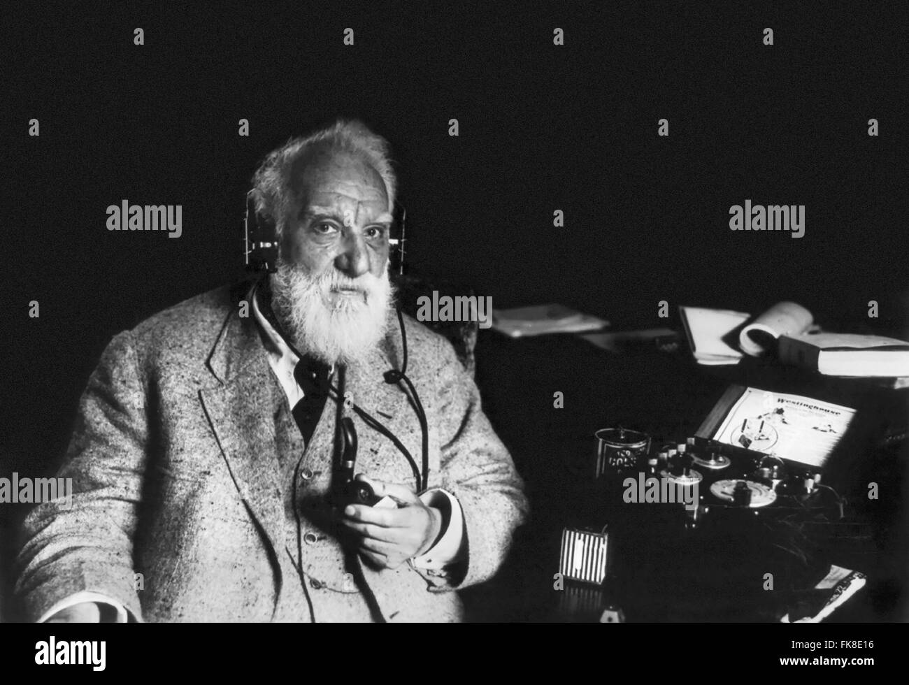 Alexander Graham Bell, c. May 1922 - Stock Image