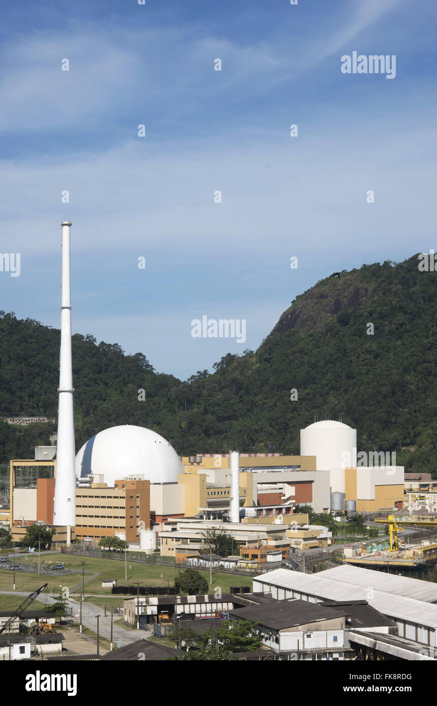 Nuclear power plant Angra dos Reis - Stock Image