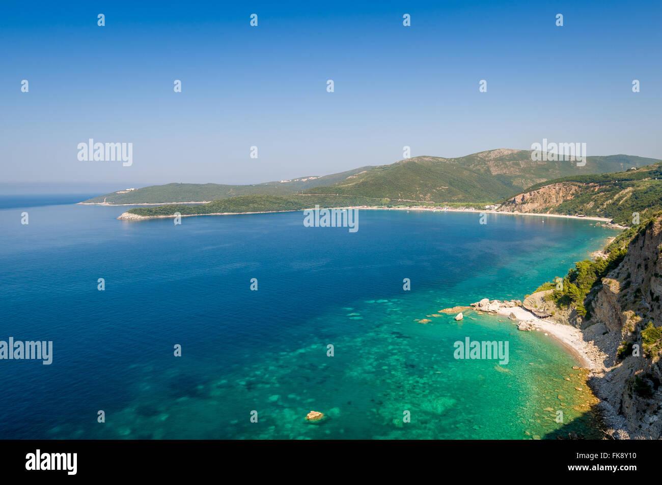Adriatic turquoise sea shore landscape - Stock Image