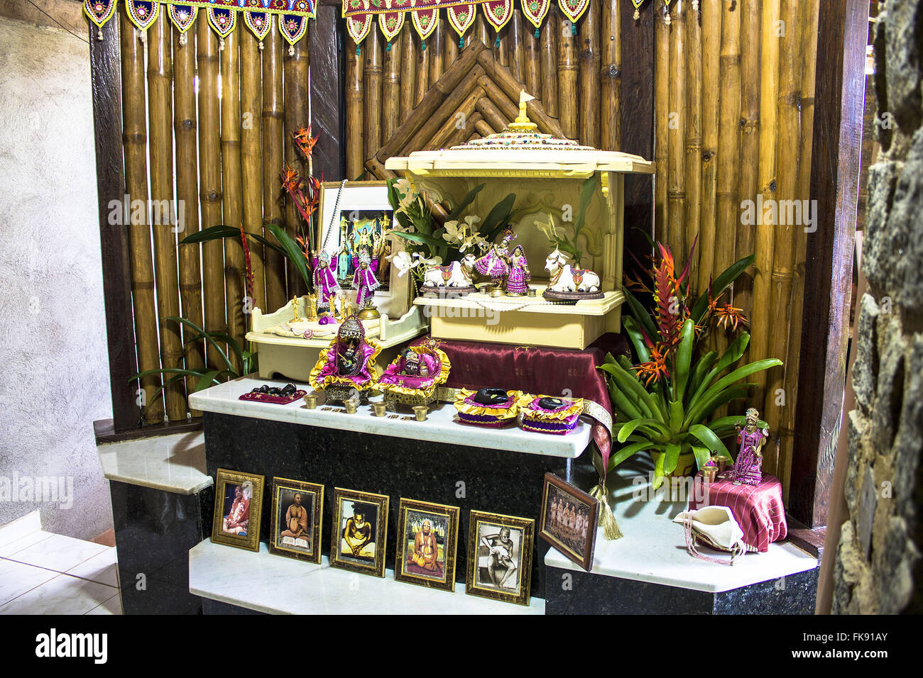 Temple Ecovillage Gaura Vrindaban Hare Krishna Community Stock Photo