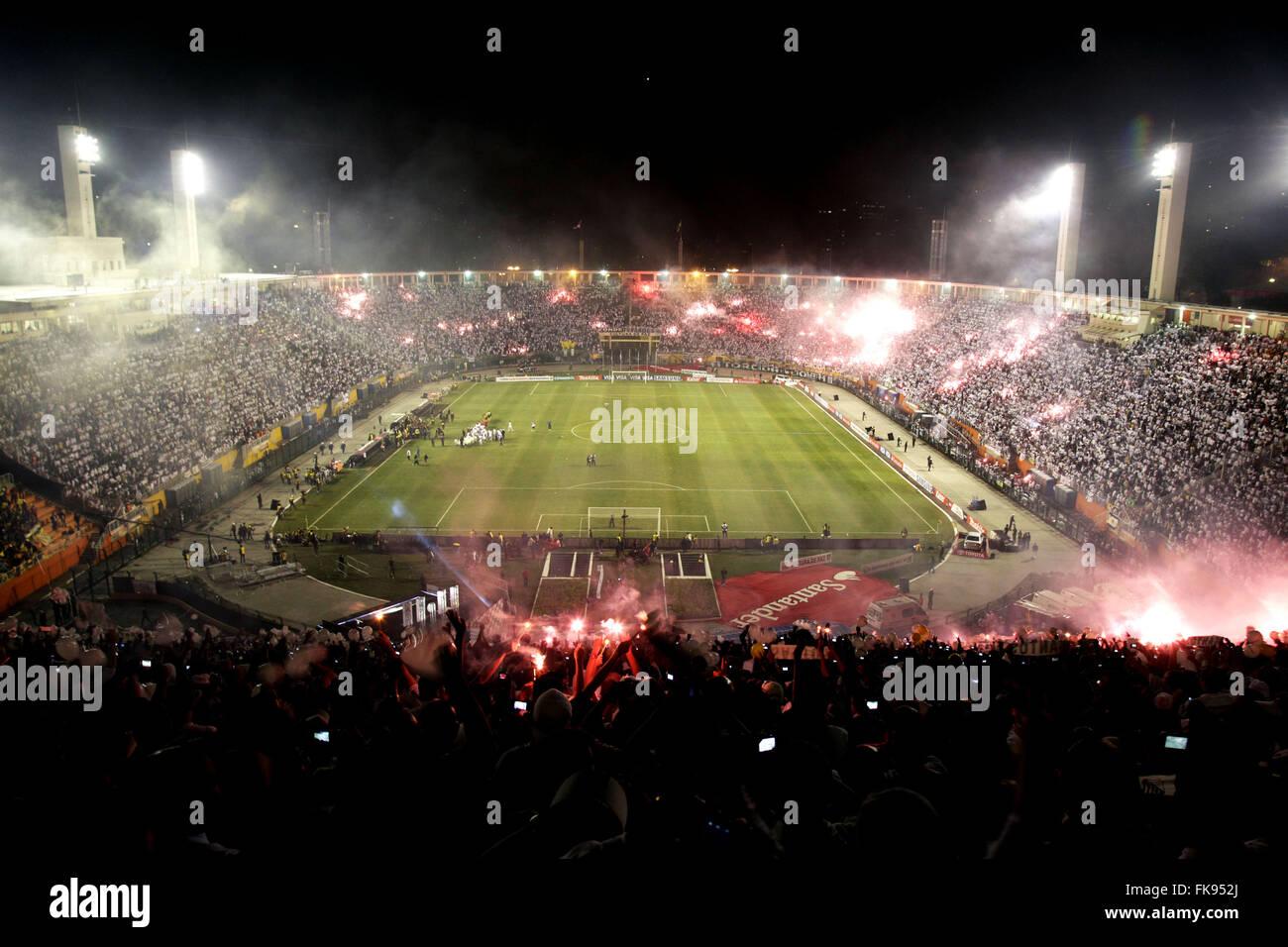 Estadio do Pacaembu before the final match of the Copa Libertadores de America 2011 - Stock Image