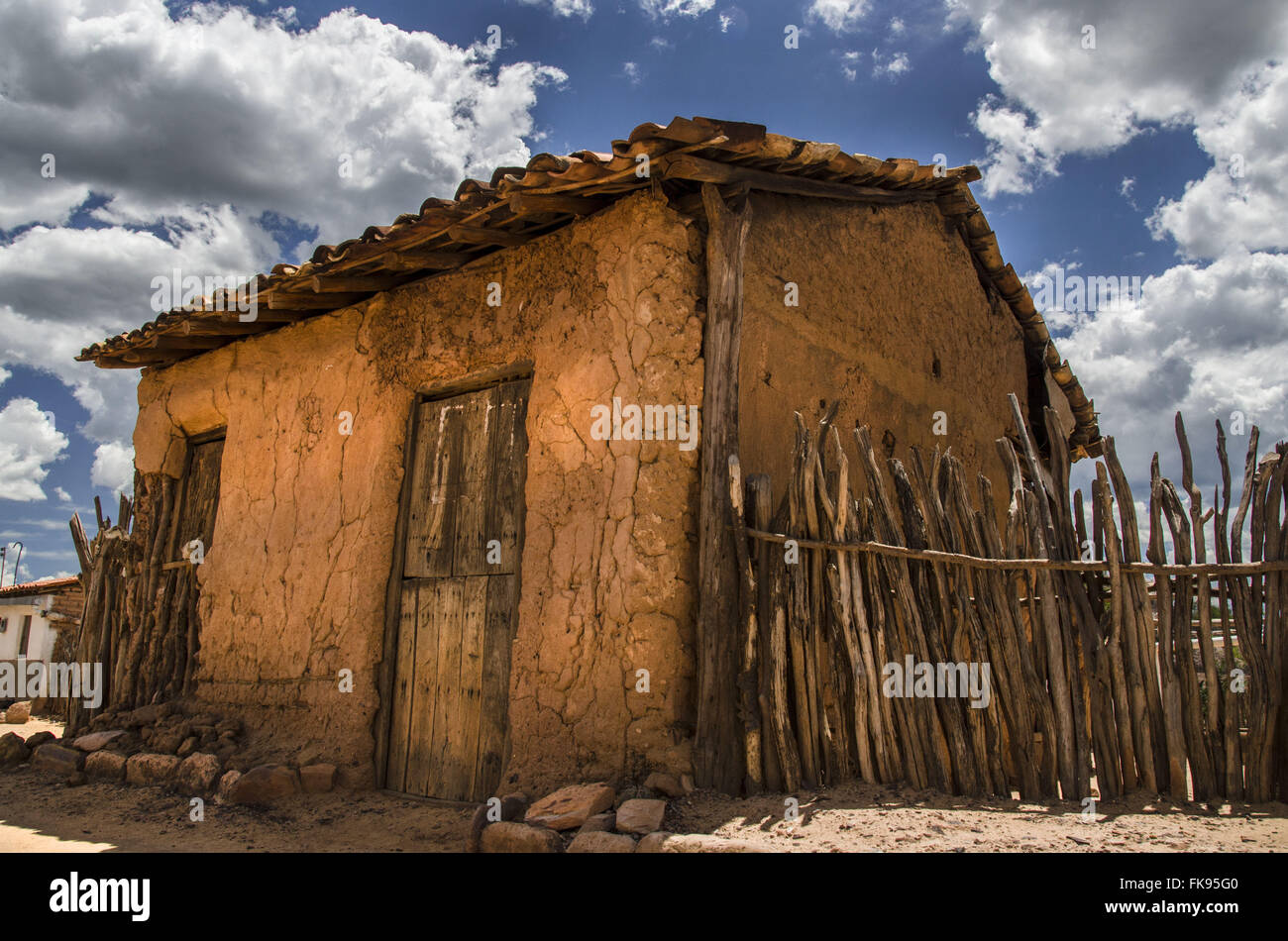 Adobe house in the northeastern backlands - Stock Image