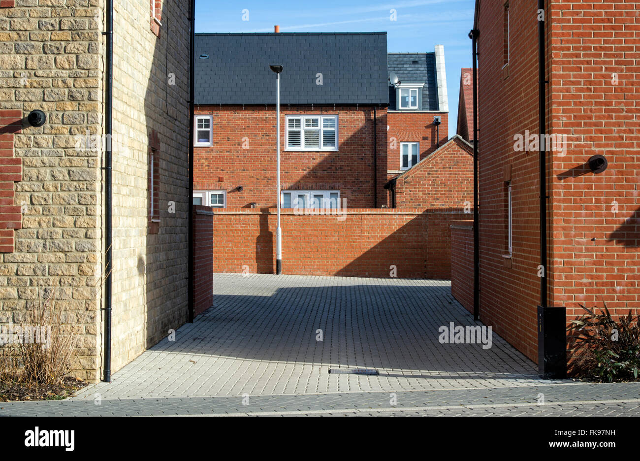 New house buildings. Bicester, Oxfordshire, England - Stock Image