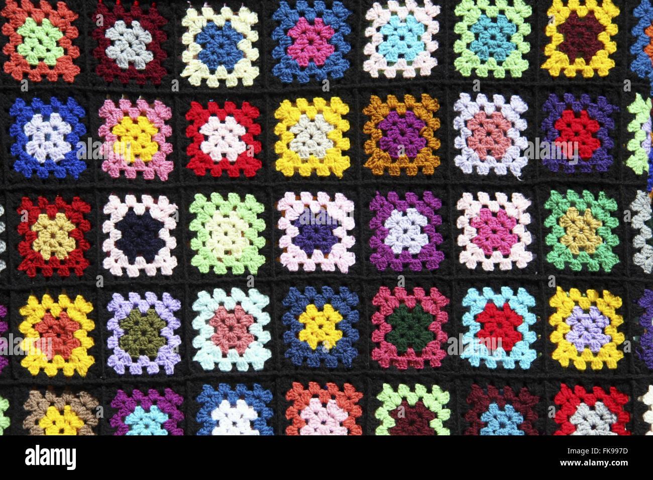 Crochet crafts produced in the municipality of Banana plantation - Vale do Paraiba - Stock Image