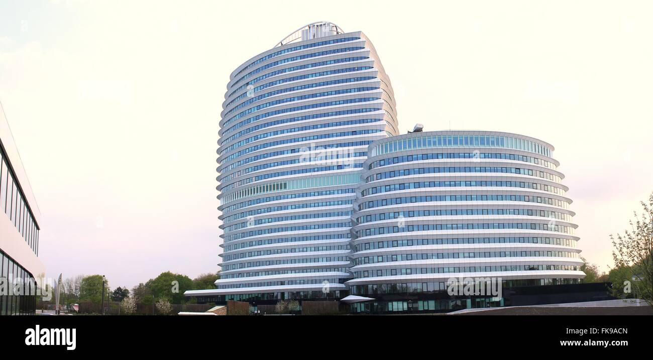 Kempkensberg or DUO towers, Groningen, Netherlands. Office complex for the Education executive Agency and Tax Office - Stock Image