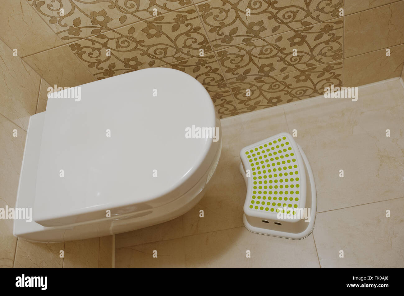 Super Modern White Toilet With Children Footrest Stock Photo Frankydiablos Diy Chair Ideas Frankydiabloscom