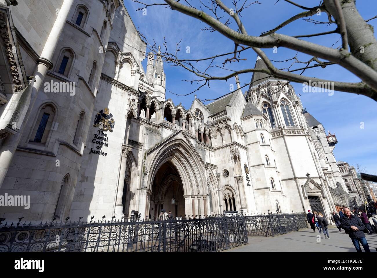 Exterior of The Royal Courts of Justice London U.K. - Stock Image