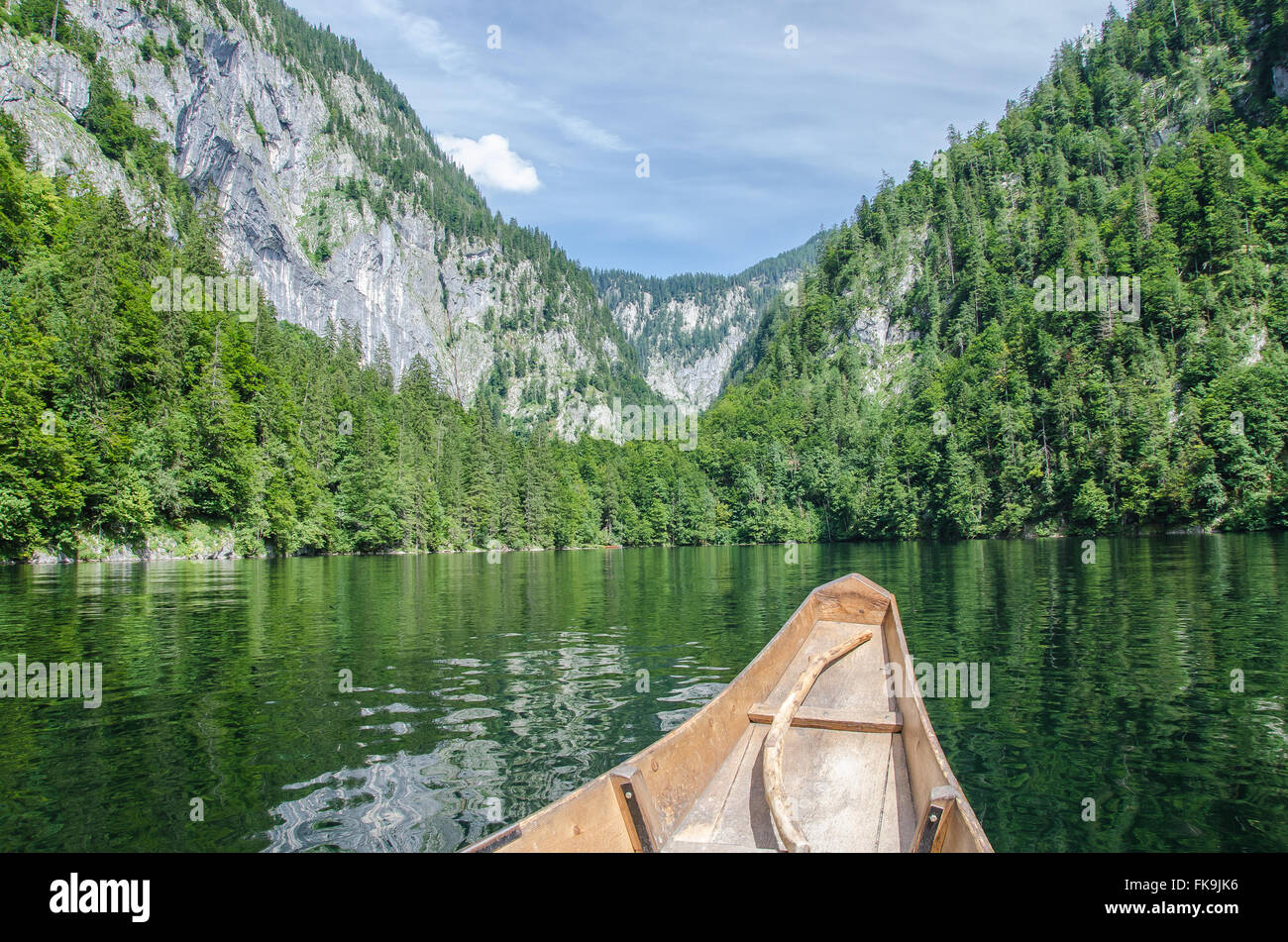 3 Lakes Tour: Lake Grundlsee, Lake Toplitzsee. Is there really gold from World War Two hidden in Lake Toplitzsee? Stock Photo