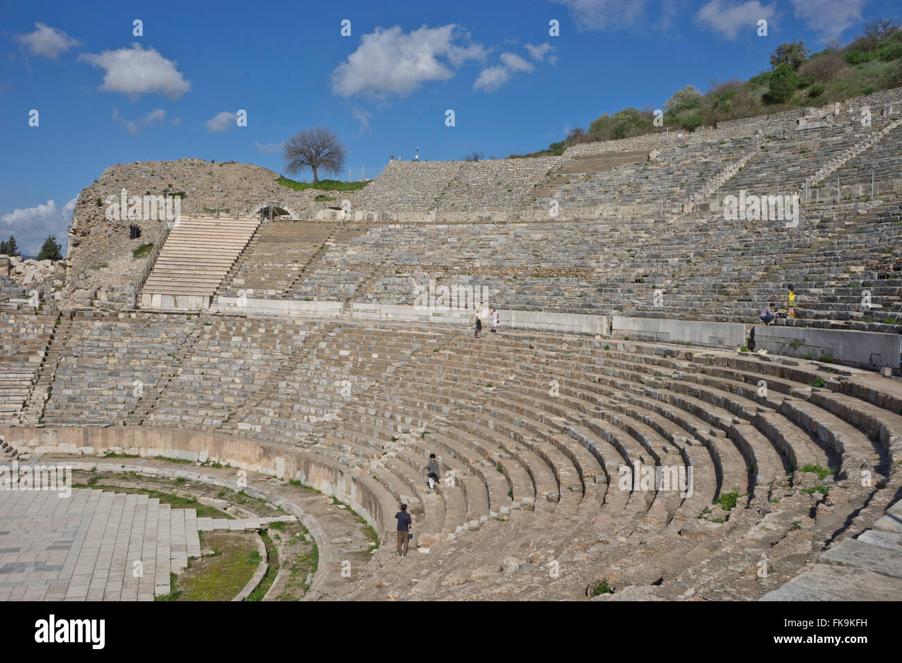 Amphitheatre at the ancient Greek and Roman periods city of Ephesus in Turkey - Stock Image