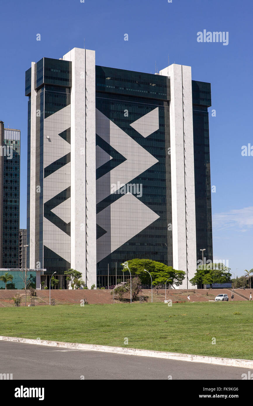 Building of the Bank of Brazil Banking Sector between the South and the Cultural Complex of the Republic - Stock Image
