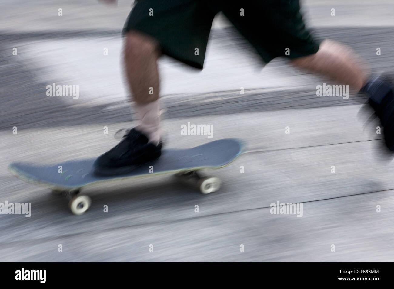 Detail of practical skateboard - Stock Image