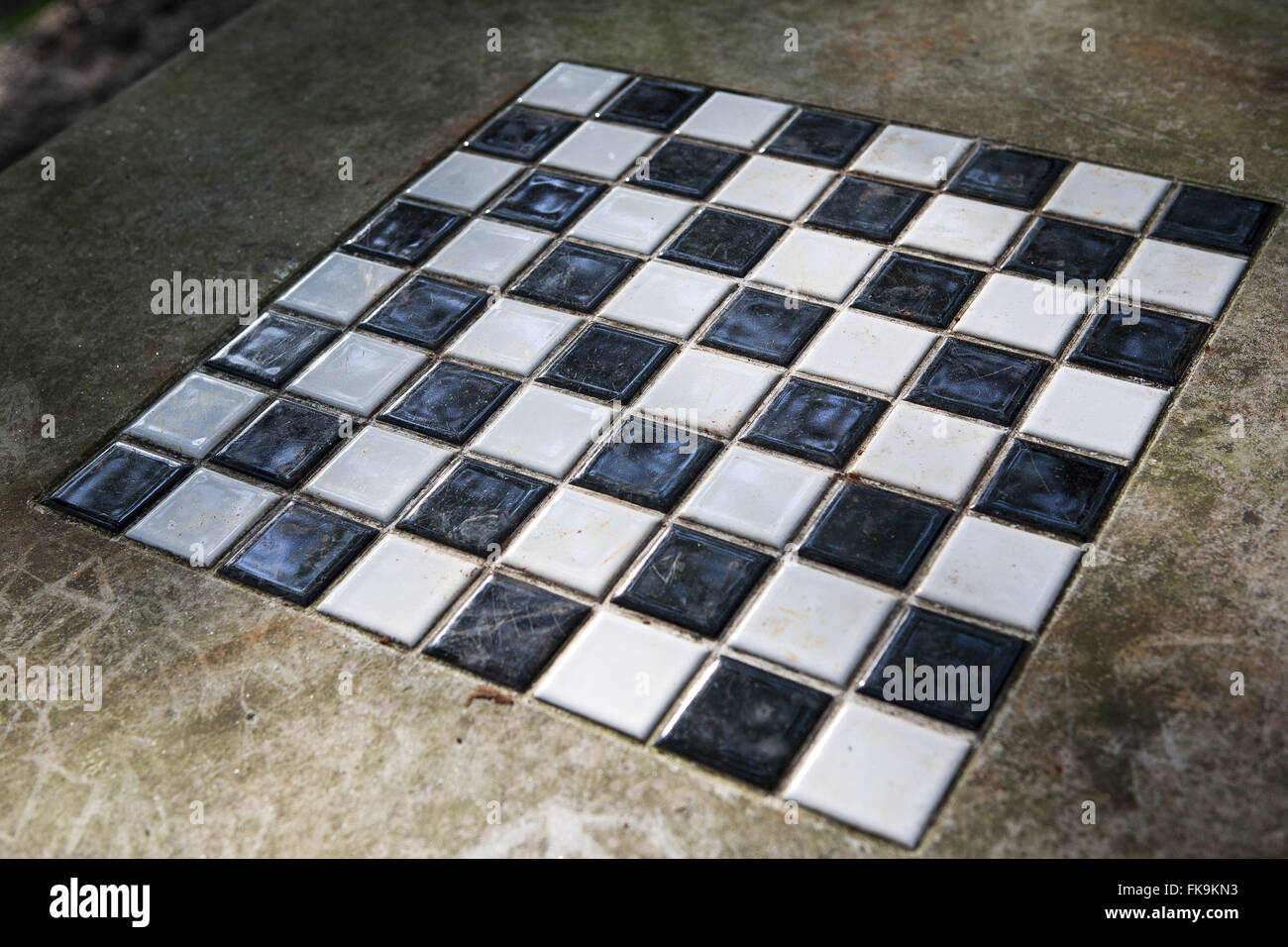 Detail of the chessboard - Stock Image