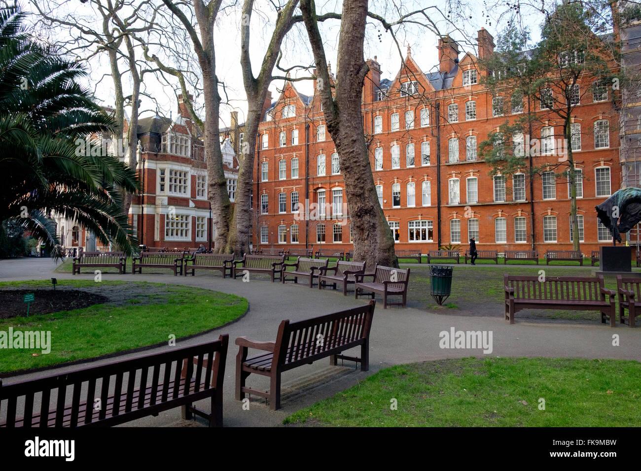 London, UK - 24 February 2016: Mount Street Gardens - a public garden in the heart of Mayfair - Stock Image