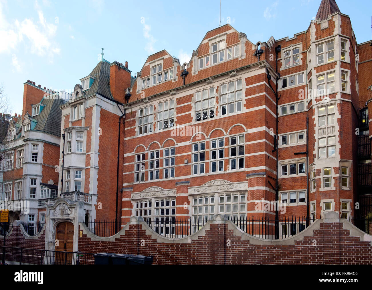 London, UK - 24 February 2016: St George's School, a state Church of England primary school for girls and boys - Stock Image
