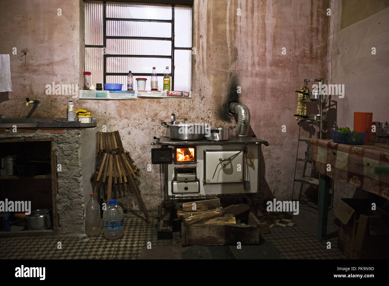 Kitchen foreman in farm livestock in the rural town of Sao Gabriel - RS - Stock Image