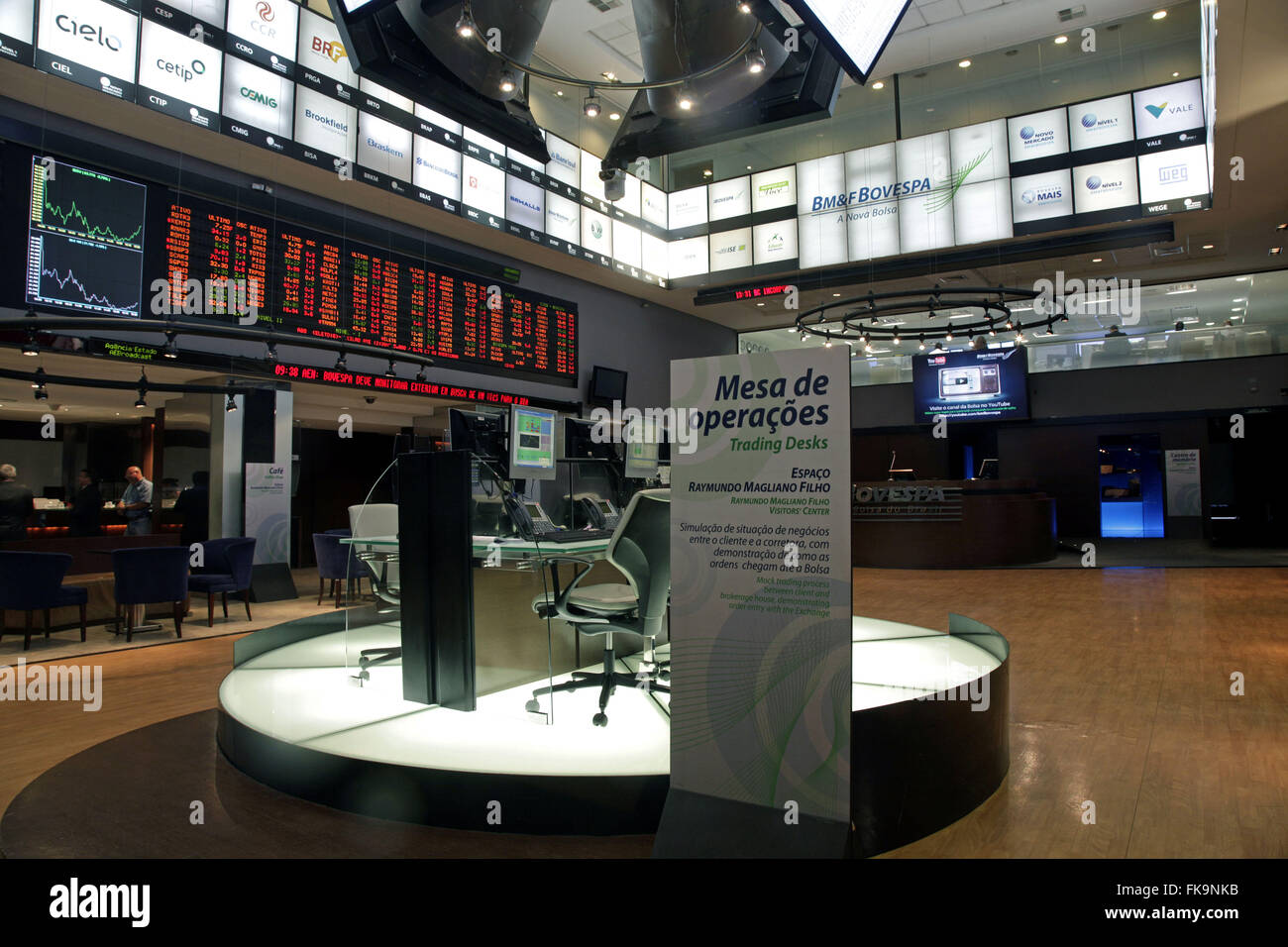 Bureau of operations for Business Simulation - BOVESPA - the Stock Exchange of Sao Paulo - Stock Image