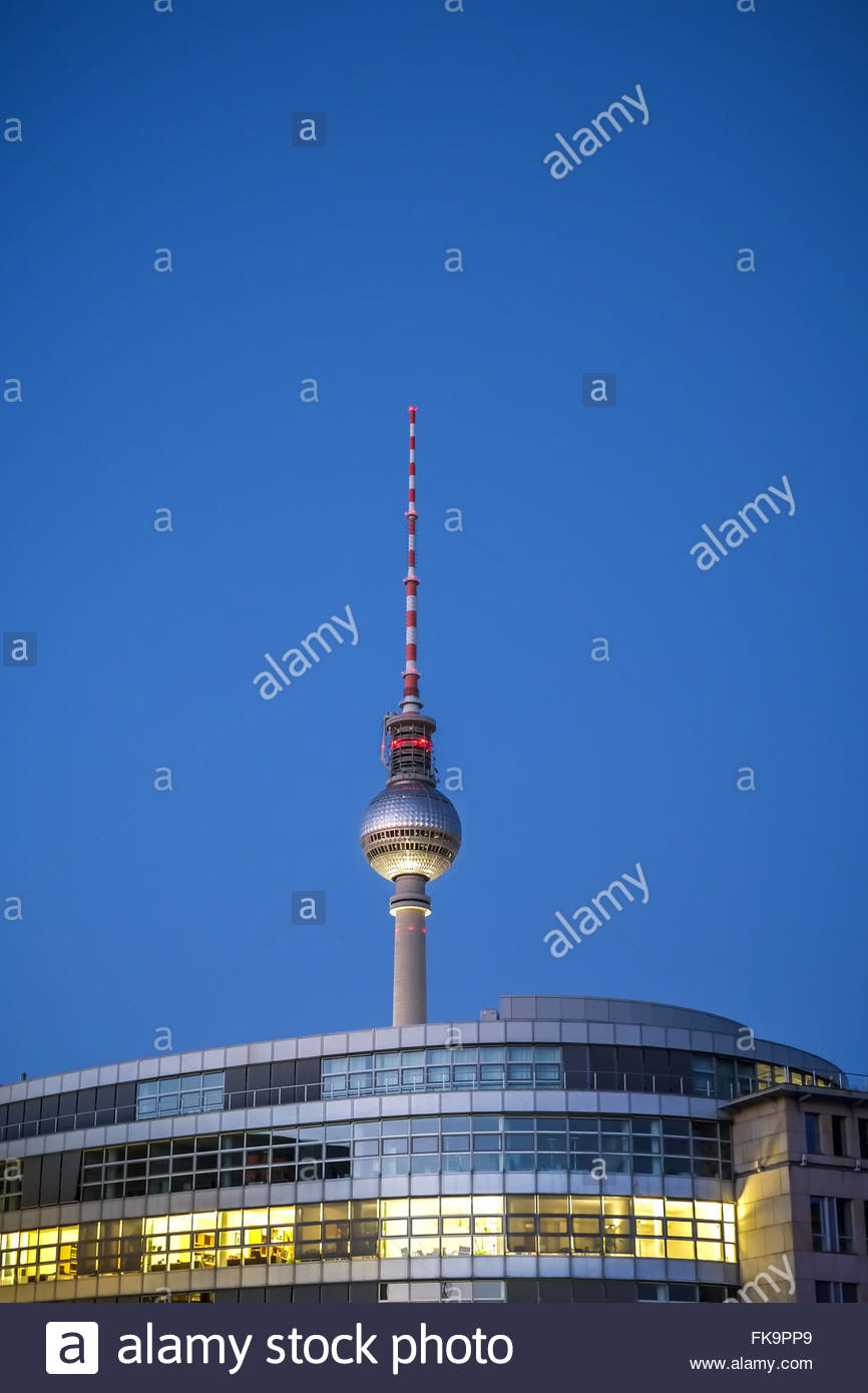 Television Tower Berlin - Alexanderplatz - Stock Image