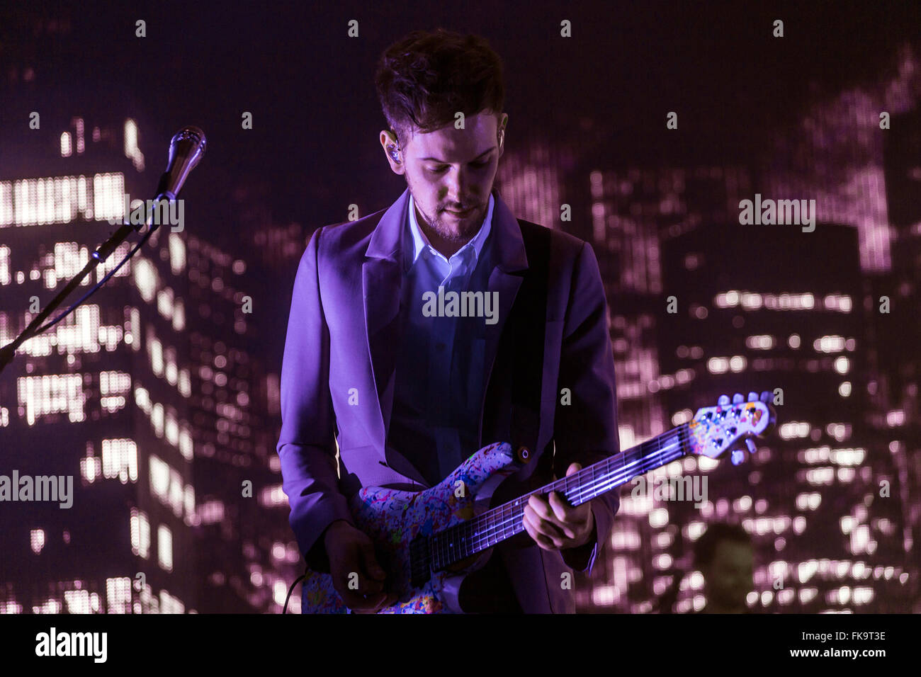 London, UK, 7th March 2016. The 1975 Live Performance at o2 Brixton Academy. Credit:  Robert Stainforth/Alamy Live Stock Photo