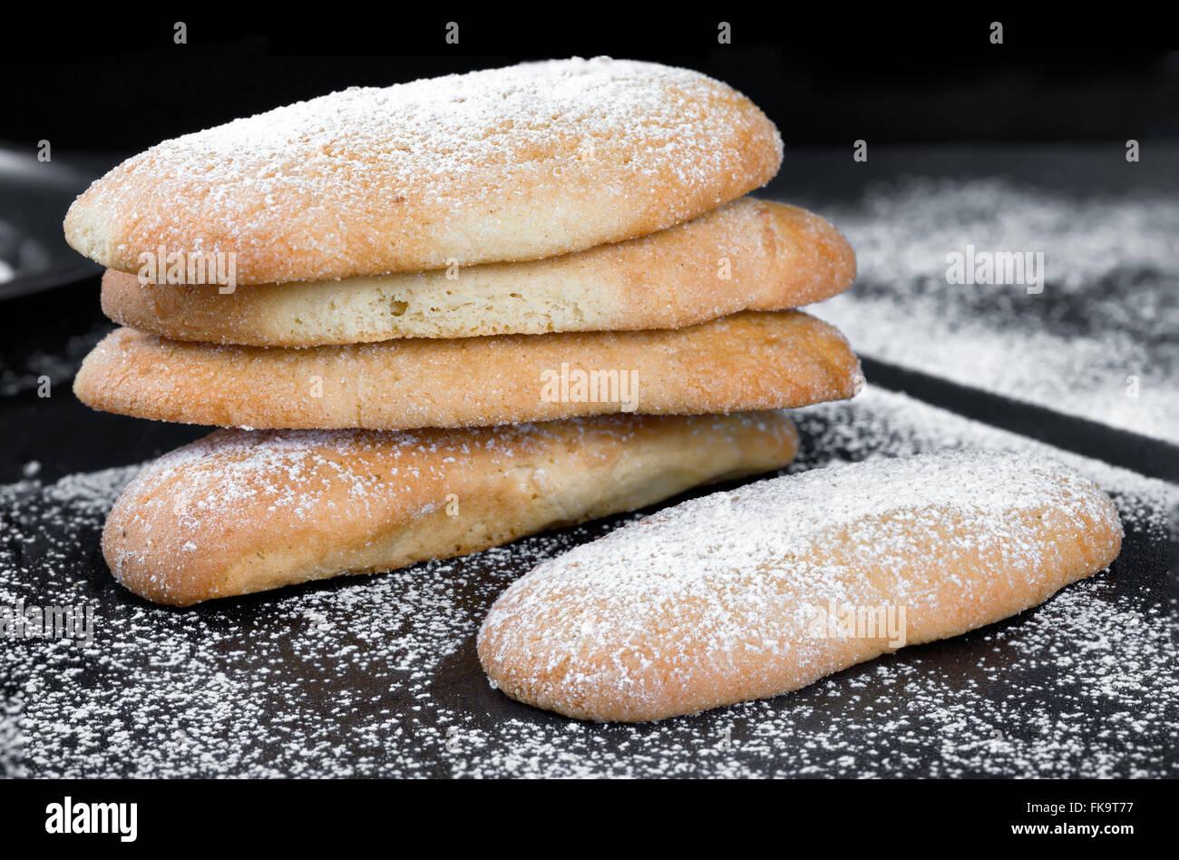 Leavened Savoiardi Biscuits - Stock Image