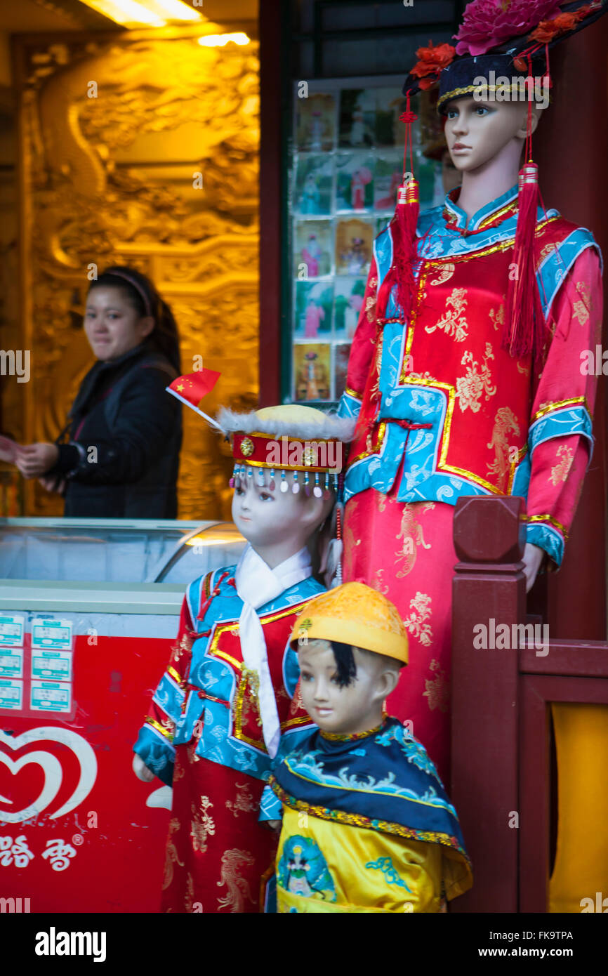 snack shop and photo booth, Round City, or City of Harmony, in Beihai Park, Beijing, China Stock Photo