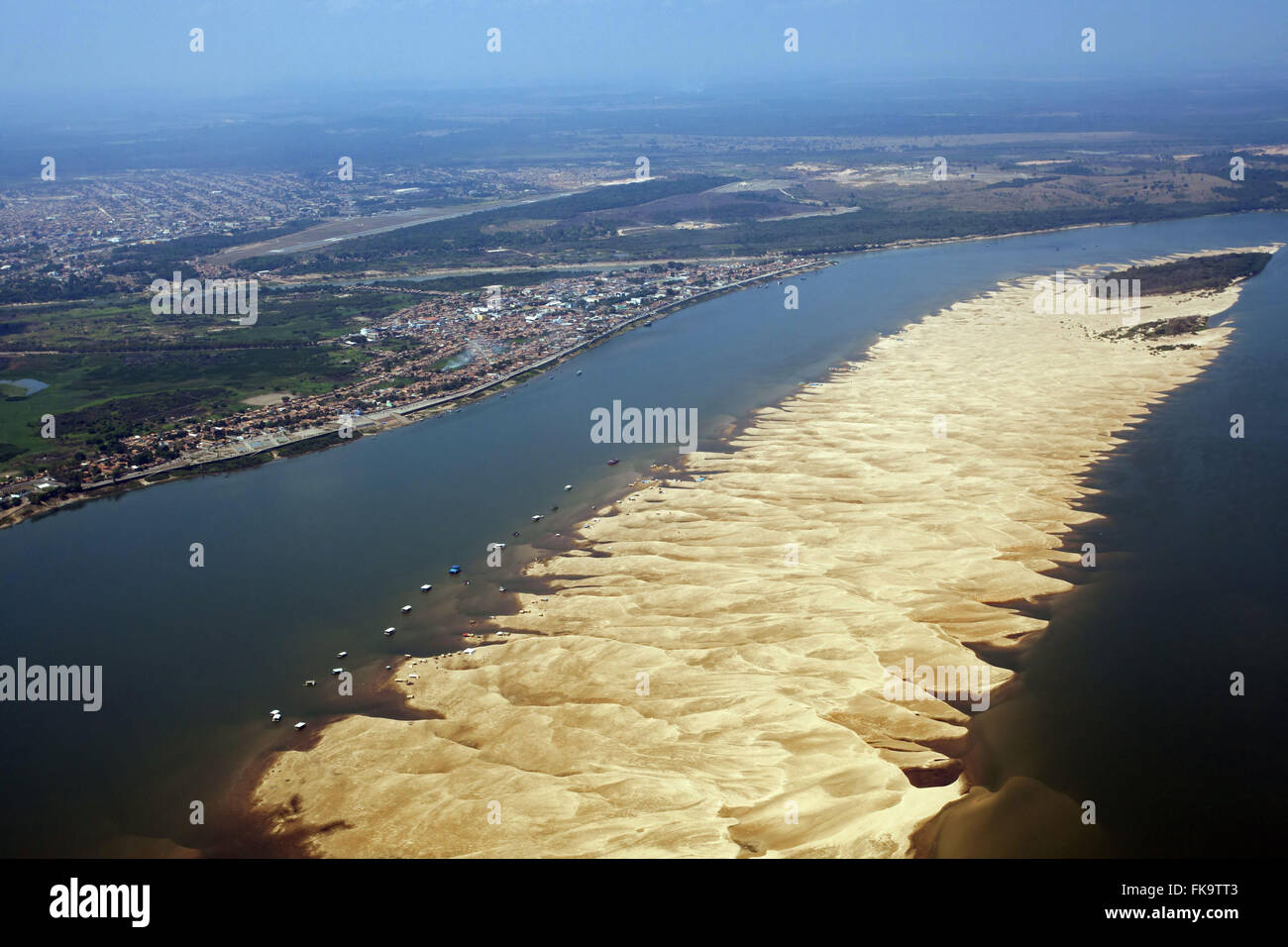 Aerial view of the city of Maraba in the margin of the Tocantins River - Stock Image