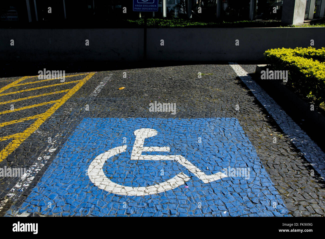 Exclusive vacancy for physical handicapped in the neighborhood Butanta - west of the city - Stock Image
