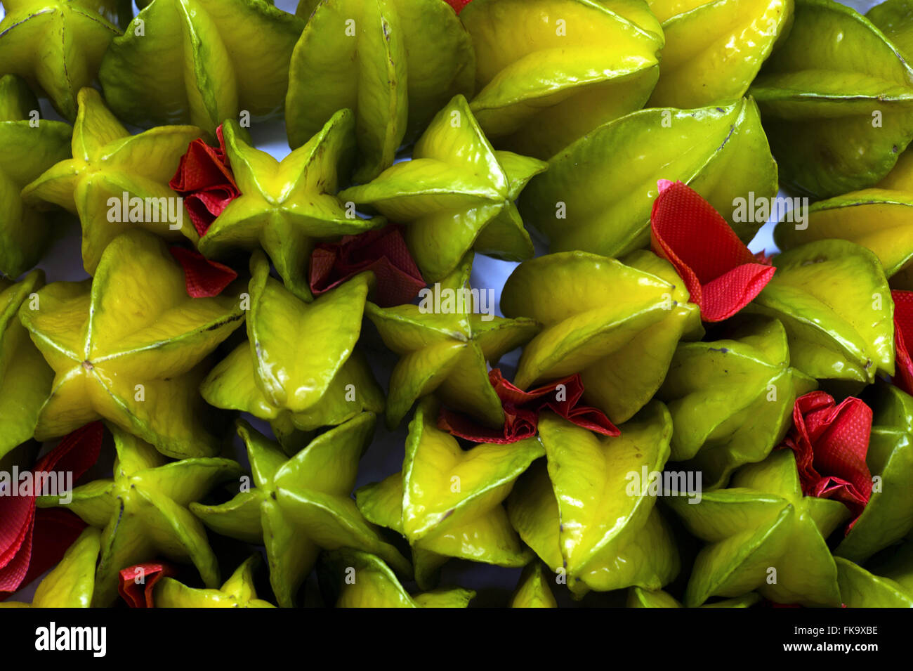 Graphics with carambola - Stock Image
