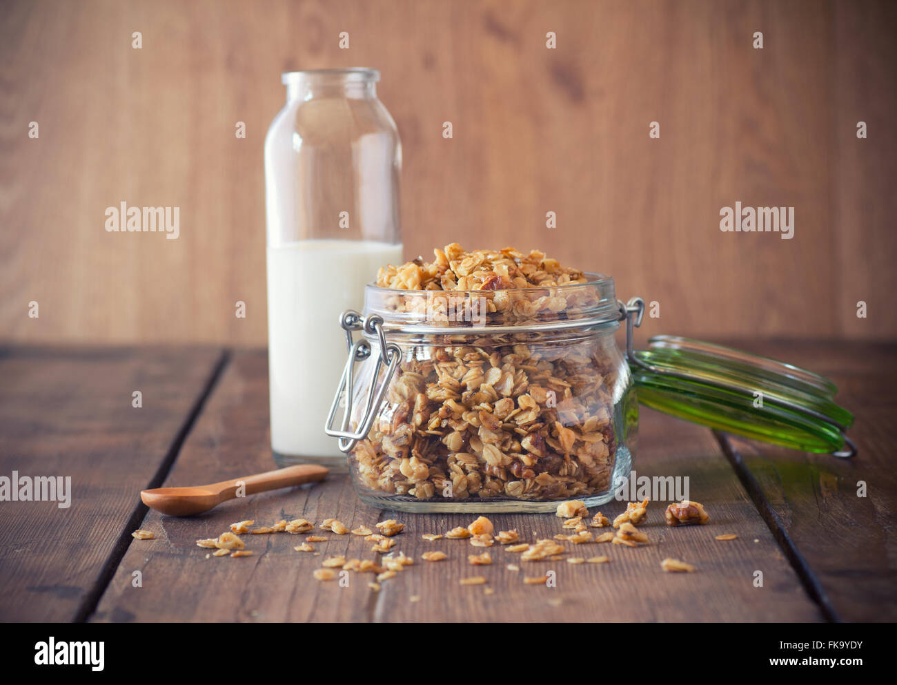 Granola in a jar - Stock Image