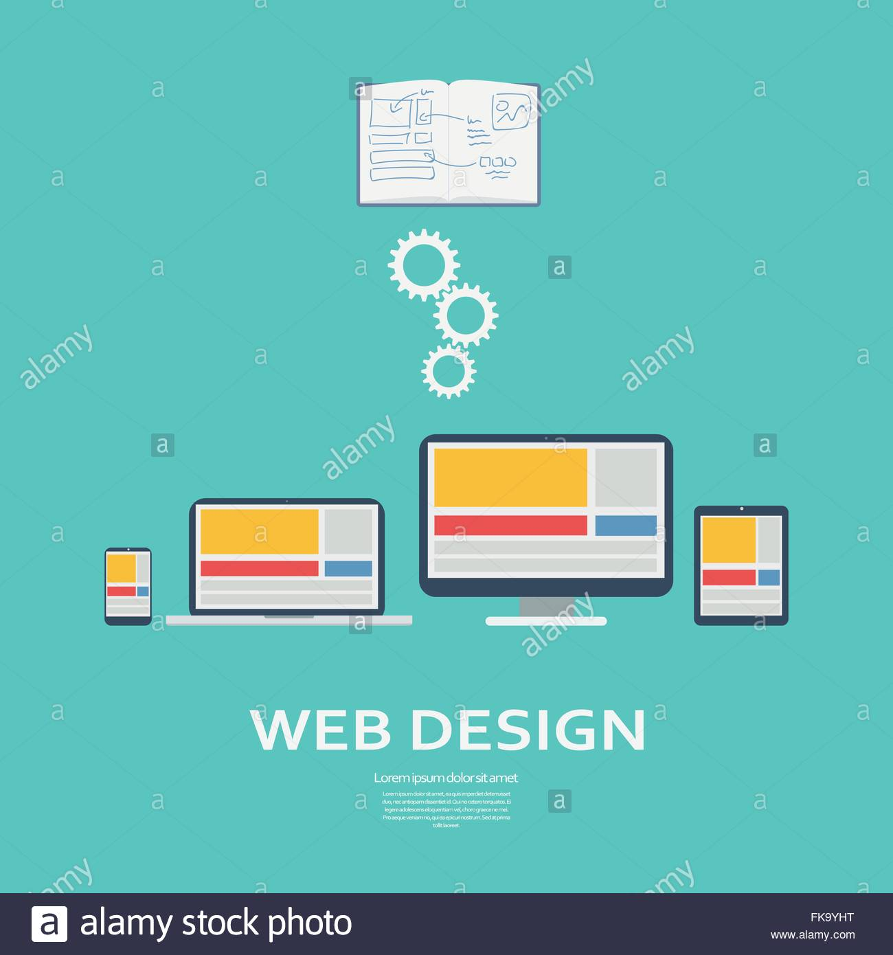 Web Design Infographics Template Responsive Webdesign On Various