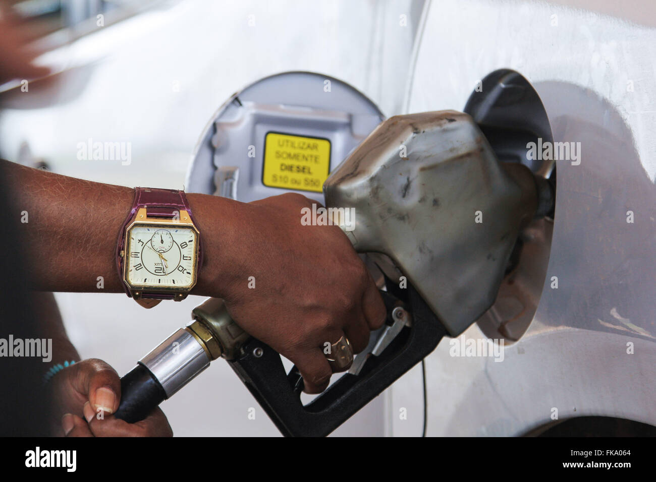 Individual vehicle fueling - Stock Image
