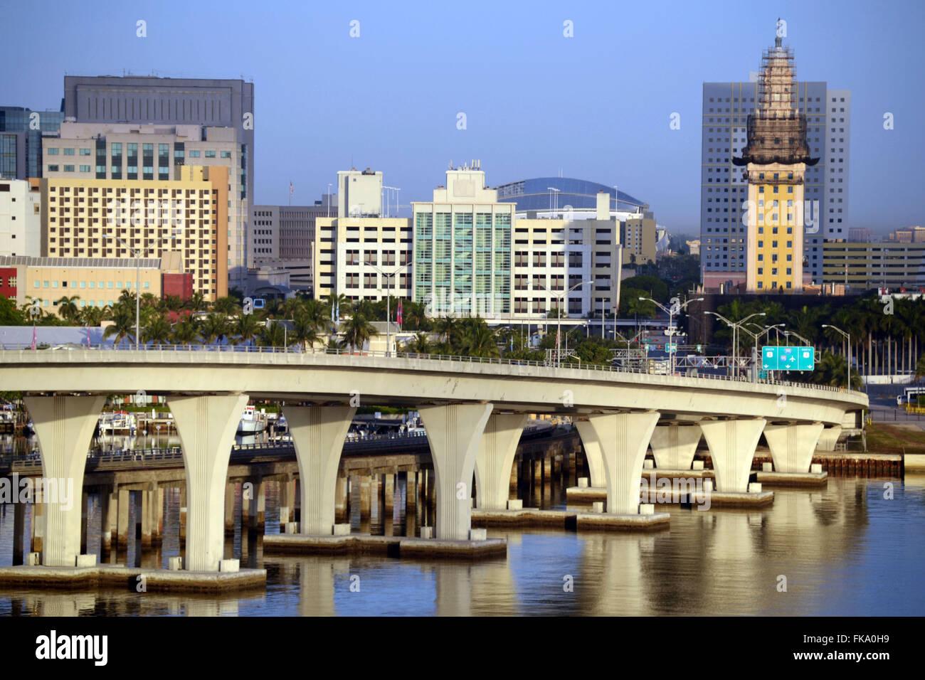 City of Miami - Florida State - USA - Stock Image