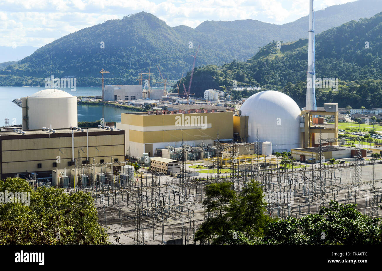 Nuclear power plant Angra dos Reis - Angra I and II - Stock Image