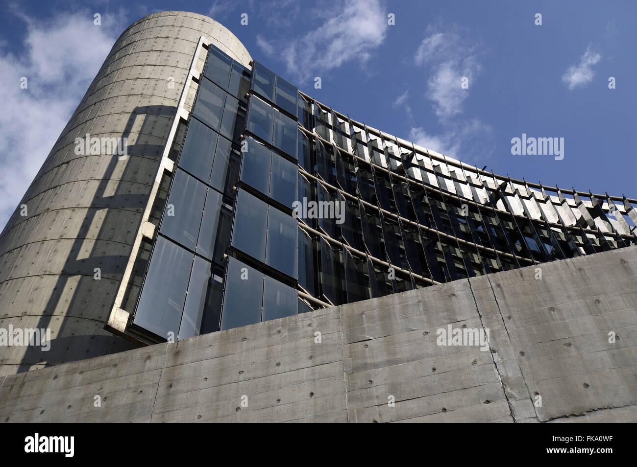Detalhe do Centro da Cultura Judaica ou Casa de Cultura de Israel - Stock Image