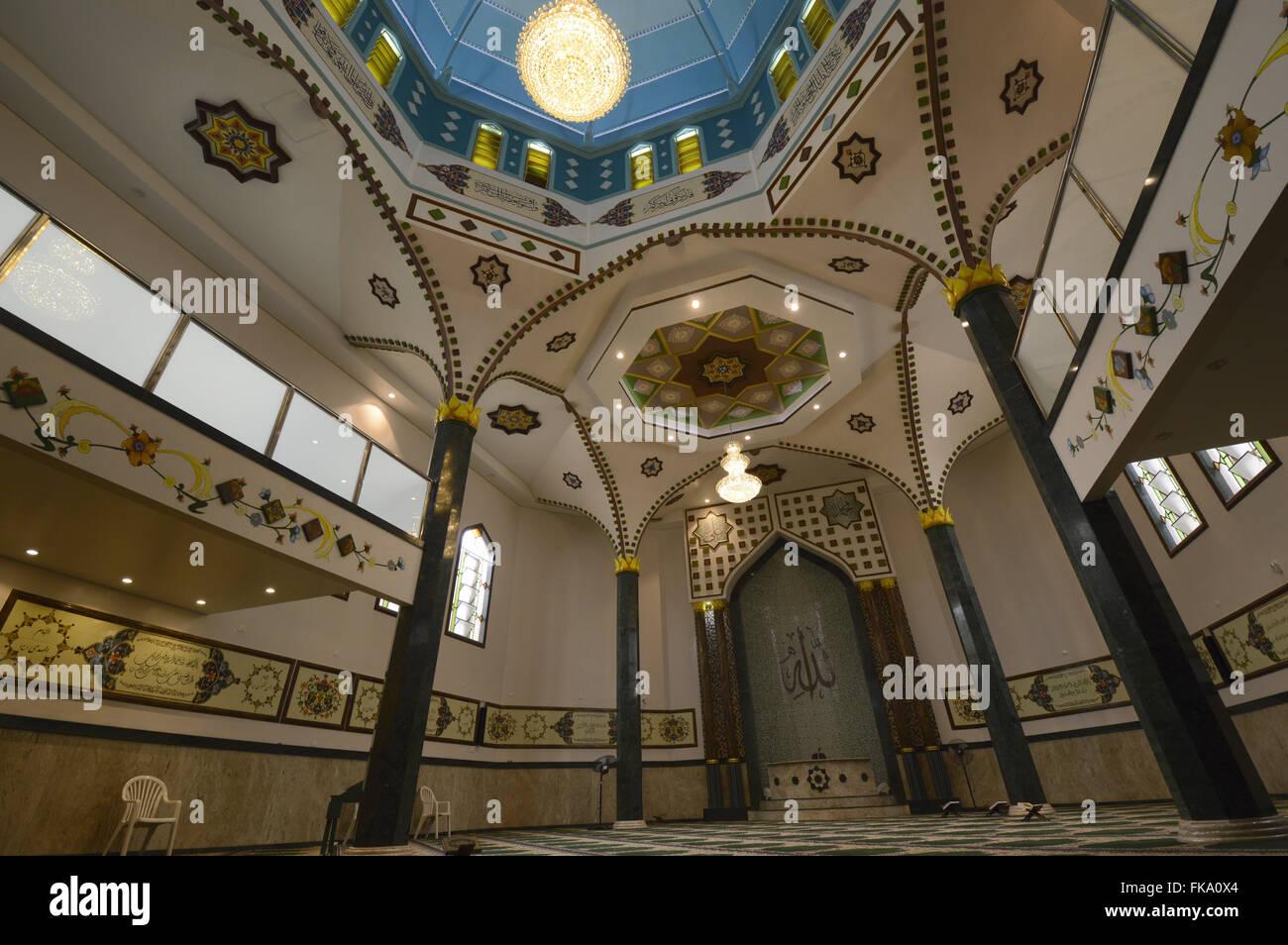 Vista interna da Mesquita do Brás - bairro Brás - Stock Image