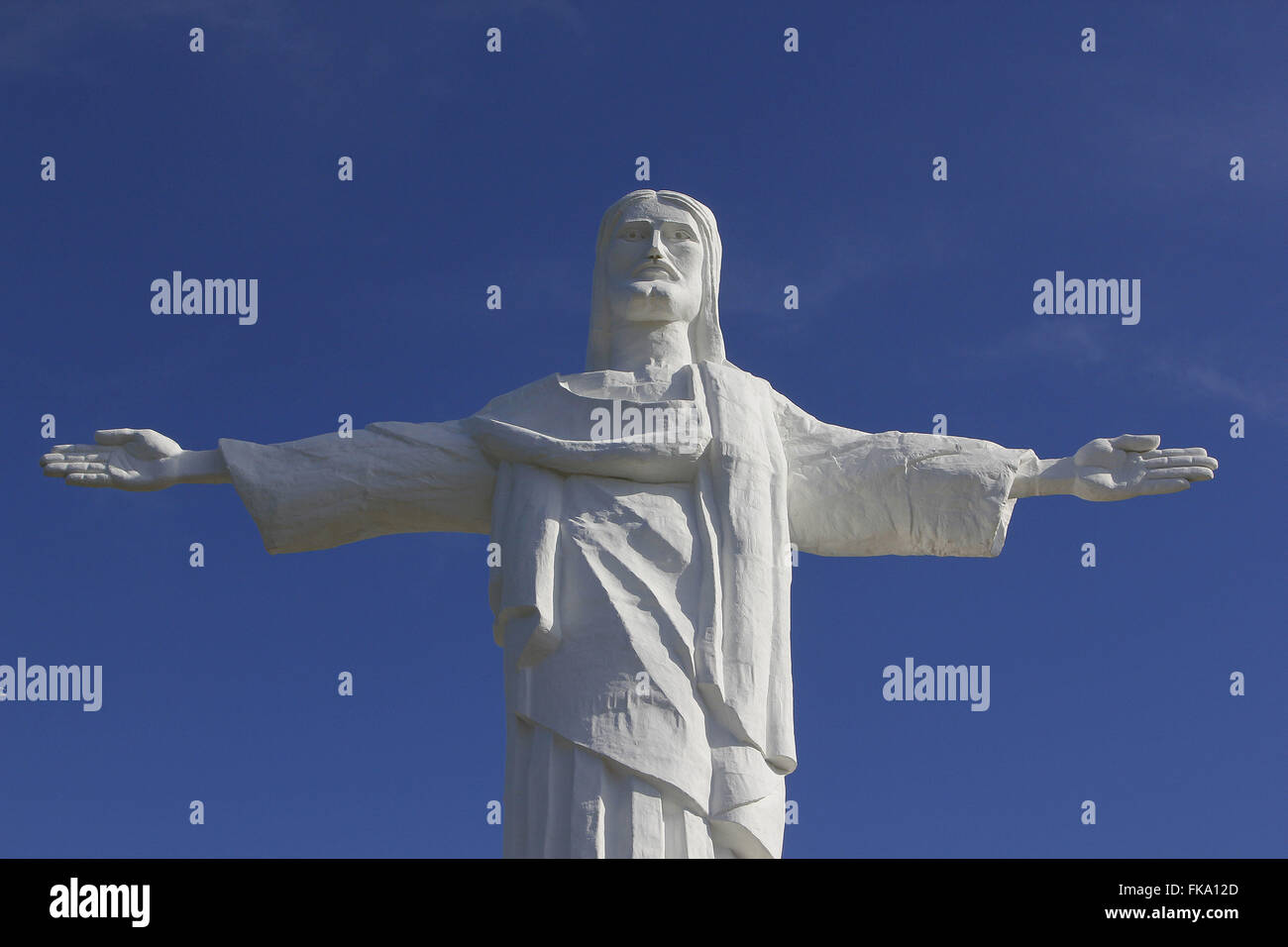 Christ the Redeemer on lookout - 16 meter statue inaugurated in 2012 - Stock Image