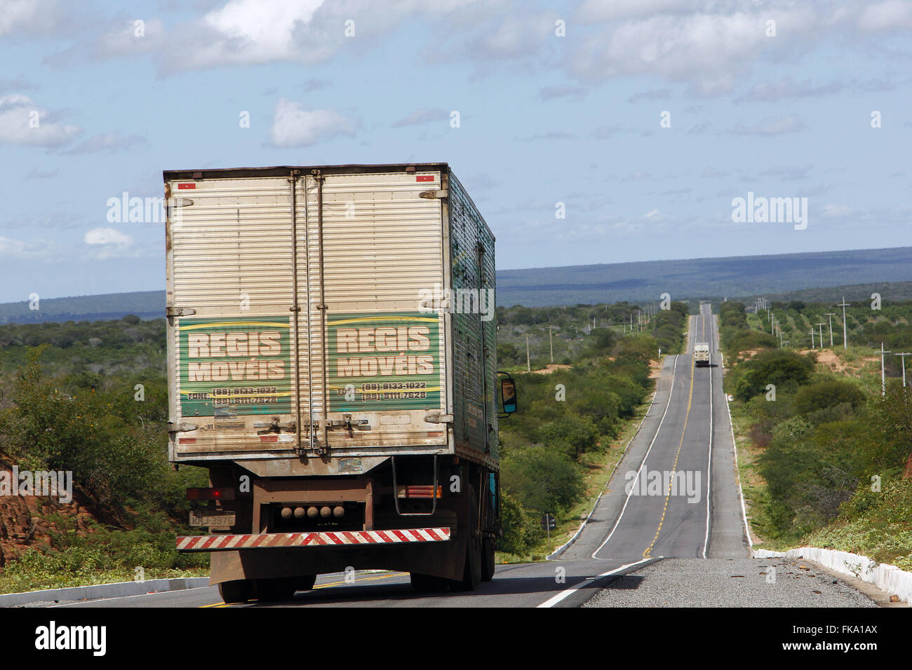 Truck travels on the BR-407 - Stock Image